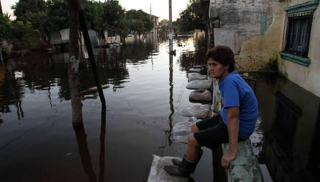 Inundaciones en Paraguay en julio de este año.