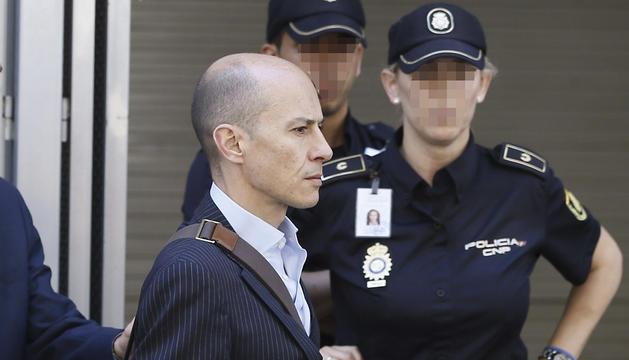 Jenaro García, saliendo de la Audiencia Nacional.