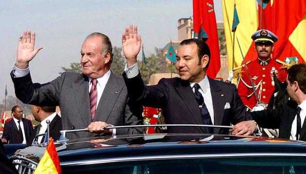 Juan Carlos I y Mohammed VI en una visita previa del primero a Marruecos.