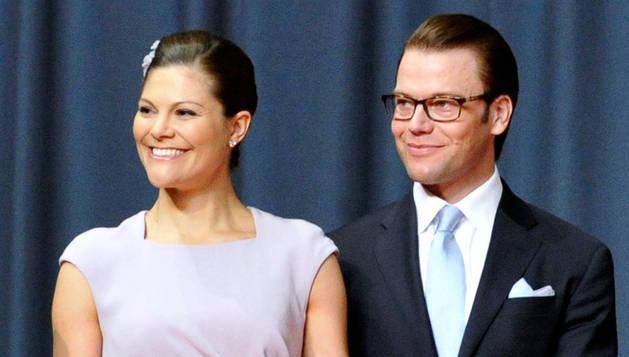 La princesa Victoria y su marido Daniel Westling