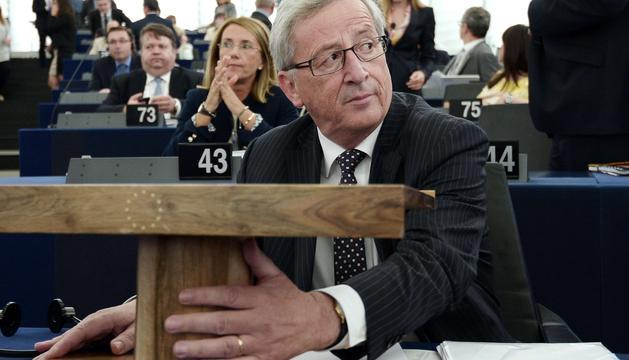 Jean-Claude Juncker, este martes en el Parlamento Europeo