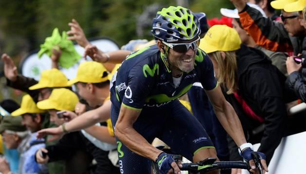 El español Alejandro Valverde, en la décima etapa