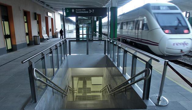 La estación de RENFE de Pamplona puede verse afectada por el paro convocado para el 1 de agosto.
