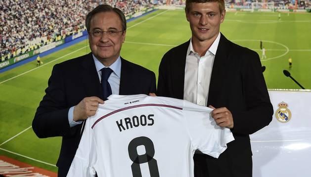 Toni Kroos, en su presentación con el Real Madrid