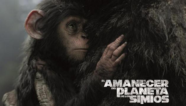 Cartel de 'El amanecer del planeta de los simios'
