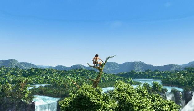 Fotograma de la nueva película de Tarzán en 3D.