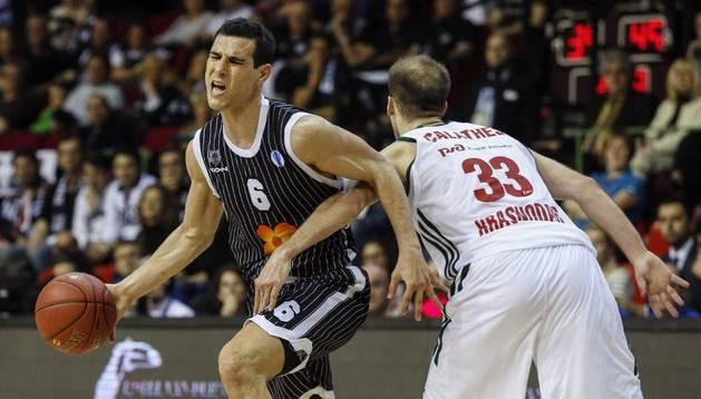 Nikos Zisis, con el Bilbao Basket