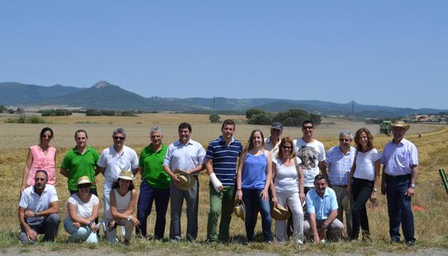 Los miembros de la expedición agroalimentaria. Entre ellos varios agricultores, miembros del Grupo AN, Harinas Guría y trabajadores de Kraft Viana.