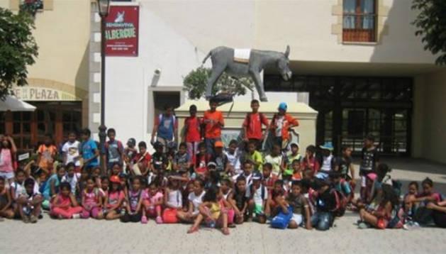 Imagen de los niños saharauis en Sendaviva