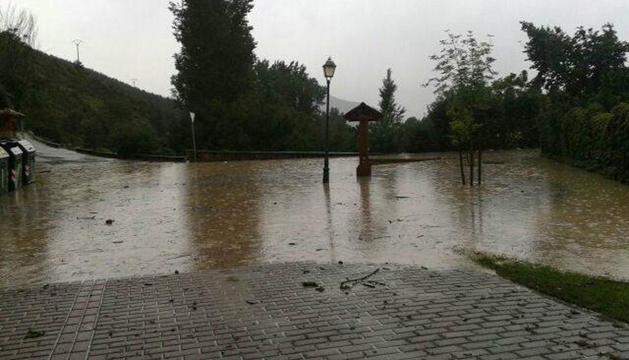 Desperfectos en Sagaseta tras las inundaciones