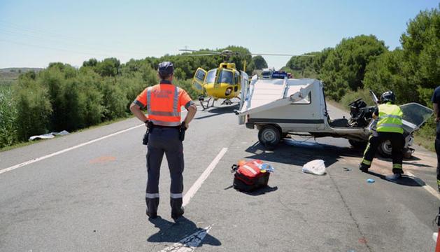 El fallecido fue evacuado en un helicóptero medicalizado al Complejo Hospitalario de Navarra.