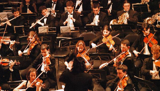 La Joven Orquesta Nacional de España, en una imagen del año 2000 en el Gayarre