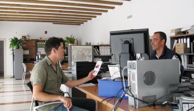 Aspecto de la oficina de la agencia energética municipal.