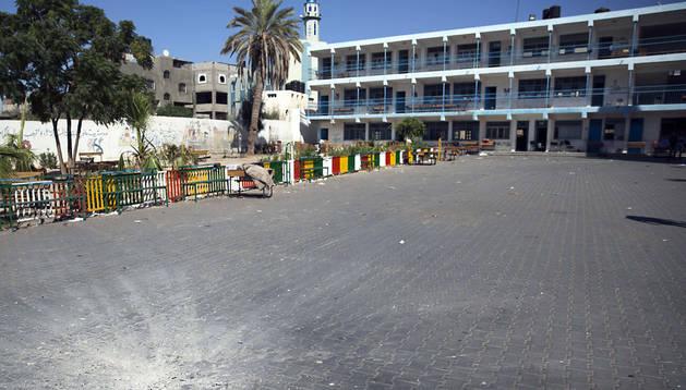 Escuela bombardeada por los israelíes