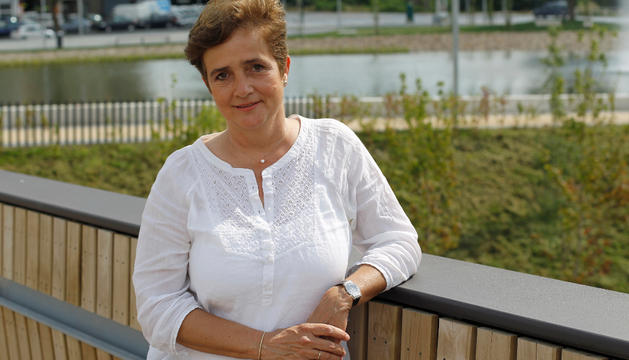 Lourdes Verano Guzzy, esta semana, en el parque de Arrosadía de Pamplona.