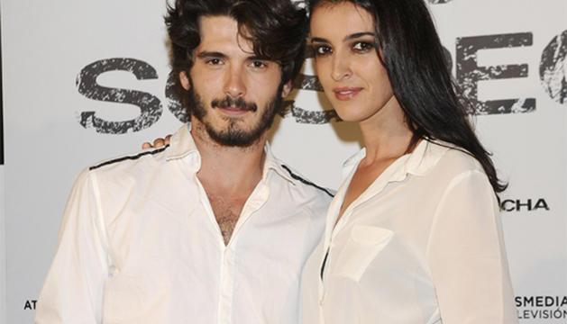 Yon González y Blanca Romero, en la presentación de la nueva serie