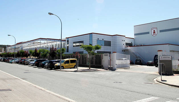 Entrada a las instalaciones de Azkoyen en Peralta