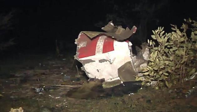 Primeras imágenes del accidente del avión de Swiftair en Mali.