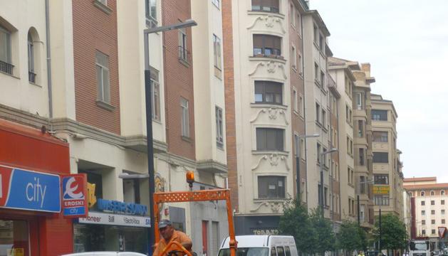 La calle Gorriti, durante las obras de pavimentación