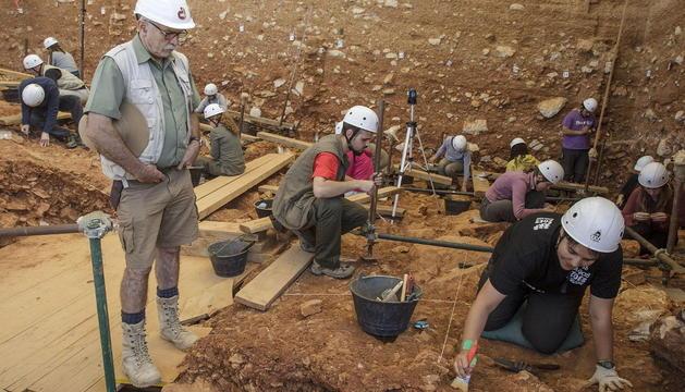Los directores de campo de los yacimientos que forman el complejo de Atapuerca.