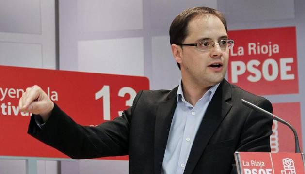 Fotografía de archivo del dirigente riojano César Luena, que será el nuevo secretario de Organización y Acción Electoral del PSOE