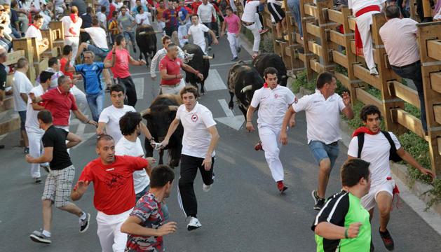 Tercer encierro de las fiestas de Tudela 2014