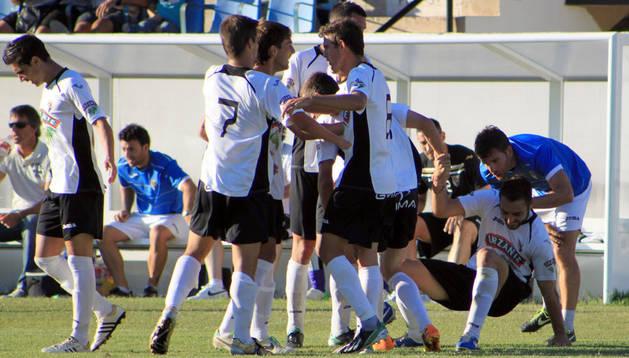Tudelano y Sestao, en el partido de ida de la temporada pasada