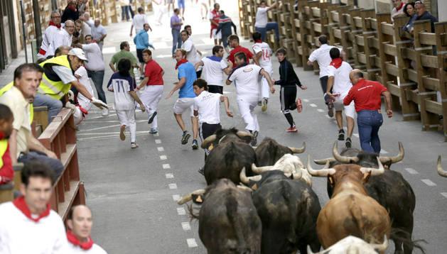 Los toros de Santos Zapatería en las calles de Tudela