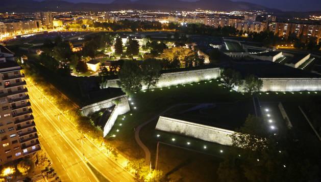 la Ciudadela de Pamplona, la más antigua fortaleza pentagonal abaluartada del mundo en uso.
