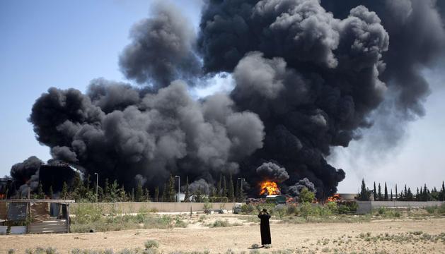 La única planta eléctrica de Gaza arde tras el ataque de Israel