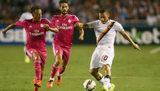 El jugador y capitán de la Roma, Francesco Totti