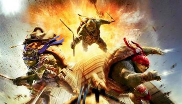 El póster de la película de las Tortugas Ninja que ha provocado polémica.