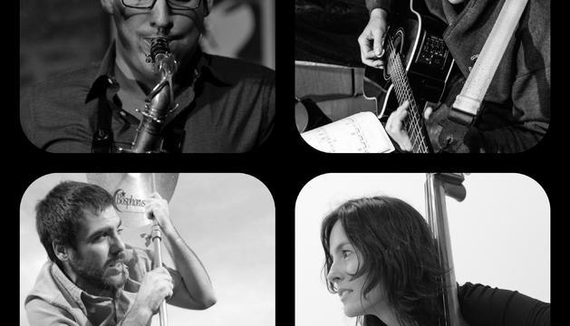 Componentes del grupo Jorge Abadías & Iñaki Rodríguez Quartet
