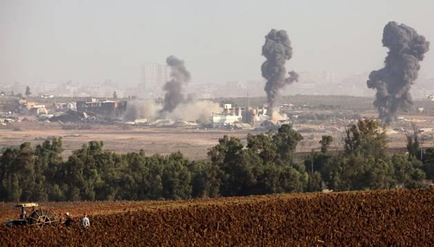 Bombardeos israelíes, este domingo, en Gaza