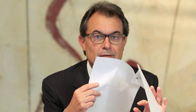 Artur Mas preside la reunión del Govern.