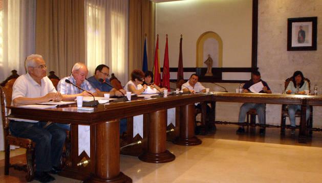 Imagen del pleno celebrado ayer en Cintruénigo