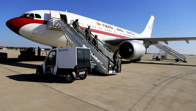 Avión de la Fuerza Aérea Española que repatriará al religioso enfermo de ébola