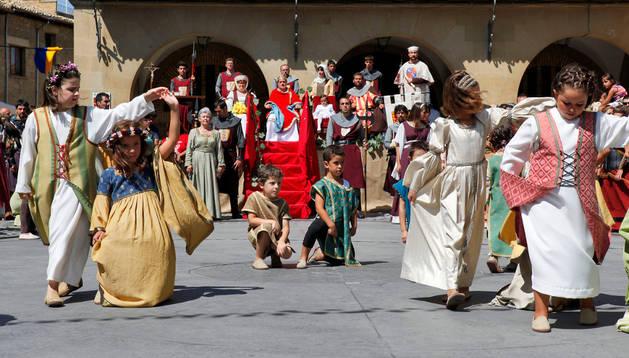 Jornada medieval en Olite, en 2012