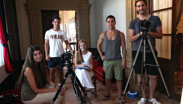 EQUIPO DE GRABACIÓN De izda. a dcha., Alicia Montañana García, Adrián Huerta Arias, Garbiñe Continente García, Daniel Blasco Arostegui y Rafa Continente Blasco.