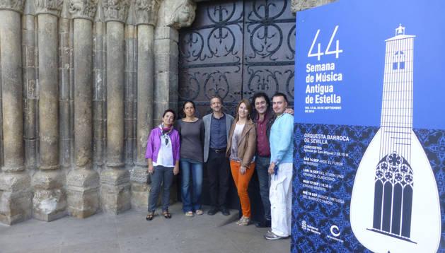 Músicos de la pasada edición de la Semana de Música Antigua de Estella.