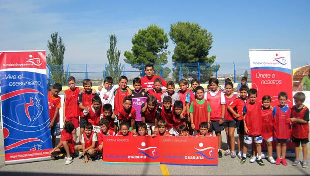 Imagen de algunos de los niños participantes en el Torneo de Fútbol Plaza de Fitero.