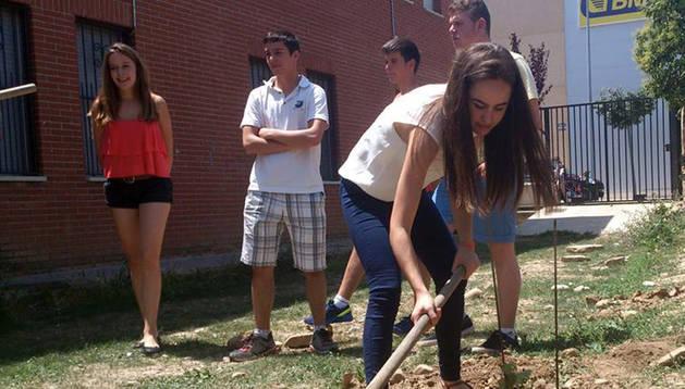 Actividades en torno al 'Oinez Basoa' en el fin de curso de la ikastola.