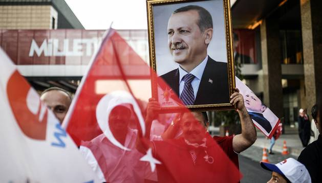 Un seguidor de Erdogan