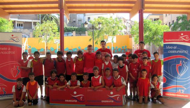 Imagen de los niños participantes en el Torneo de Fútbol Plaza disputado el pasado jueves en Villafranca.
