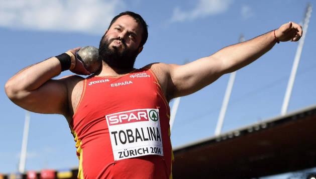 Carlos Tobalina, durante el campeonato de Europa