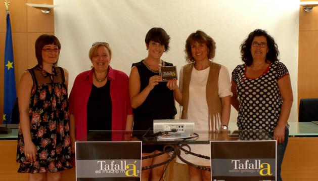 Cristina Arconada, María Jesús Alfaro, Marta Olcoz, Cristina Sota y Ana Oscáriz.