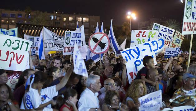 Protesta en Tel Aviv por el fracaso de la operación militar