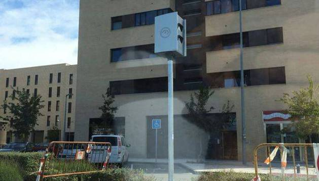 Uno de los radares ya instalados en Sarriguren