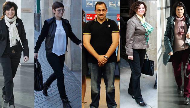 De izda. a dcha., Elena Torres, María Chivite, Javier Remírez, Amanda Acedo y Maite Esporrín