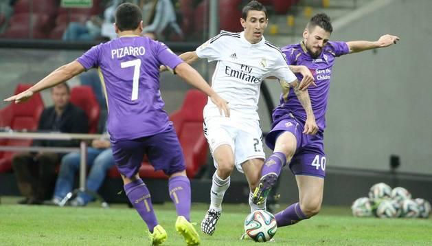 Di María, en el amistoso contra la Fiorentina